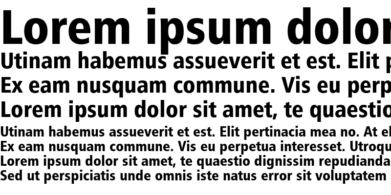 Sample of Humanist 777 Black Condensed