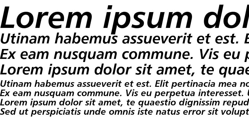 Sample of Humanist 777 Bold Italic