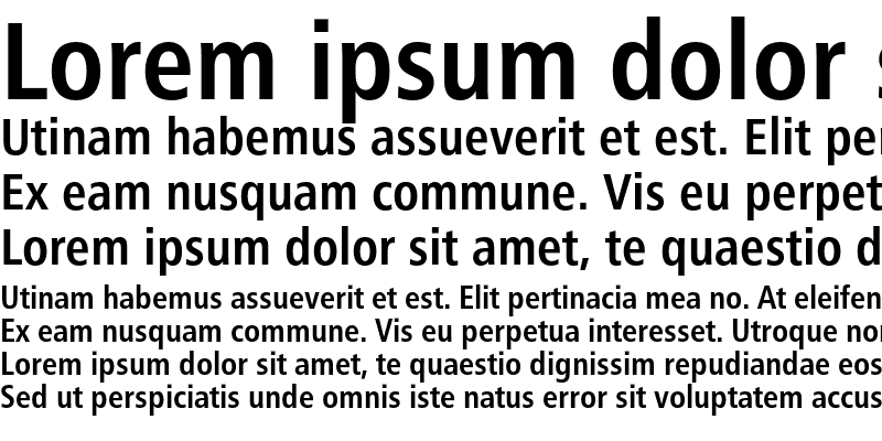 Sample of Humanist 777 Condensed Bold