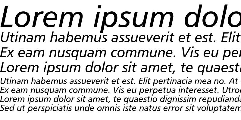 Sample of Humanist 777 Italic