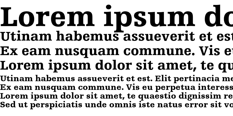 Sample of Humanist Slabserif 712 Black Regular