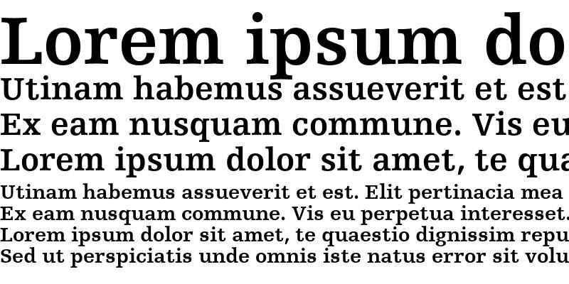 Sample of Humanist Slabserif 712 Bold