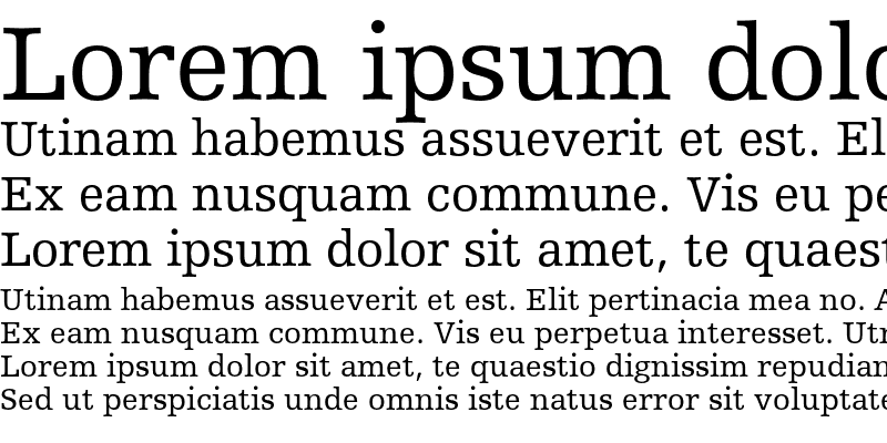 Sample of Humanist Slabserif 712