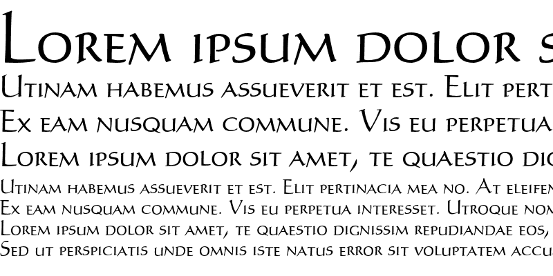 Sample of Humanist SmallCaps