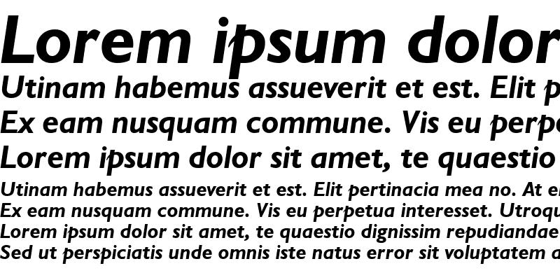 Sample of Humanst521 BT Bold Italic