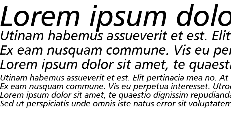 Sample of Humnst777 BT Italic