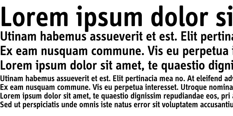 Sample of InfoDispSemiboldTf Roman