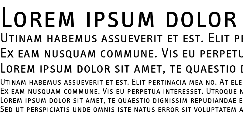 Sample of InfoTextRegular Caps