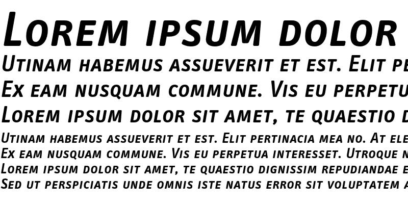 Sample of InfoTextSemiboldTf CapsIta