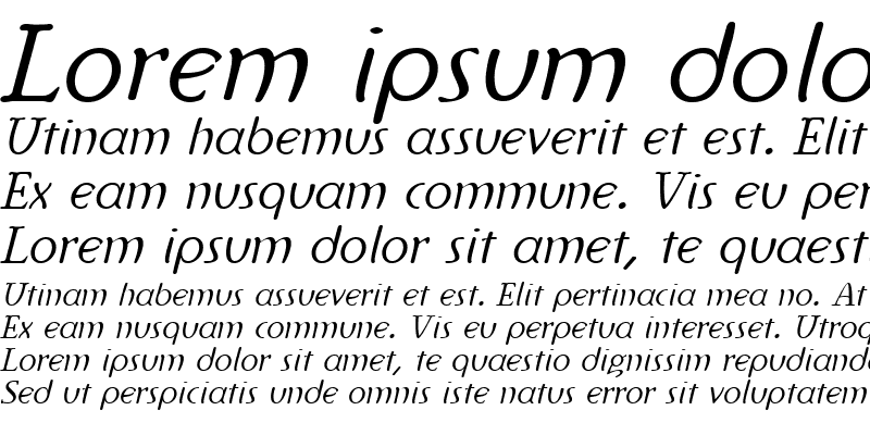 Sample of Ingriana Italic