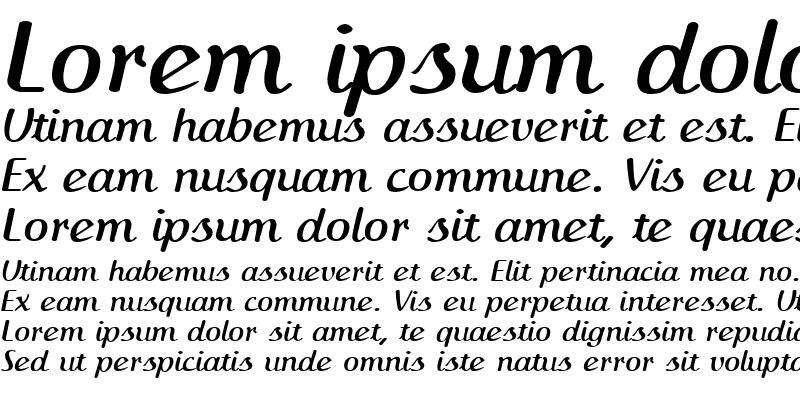 Sample of IngrianaCasual Bold Italic