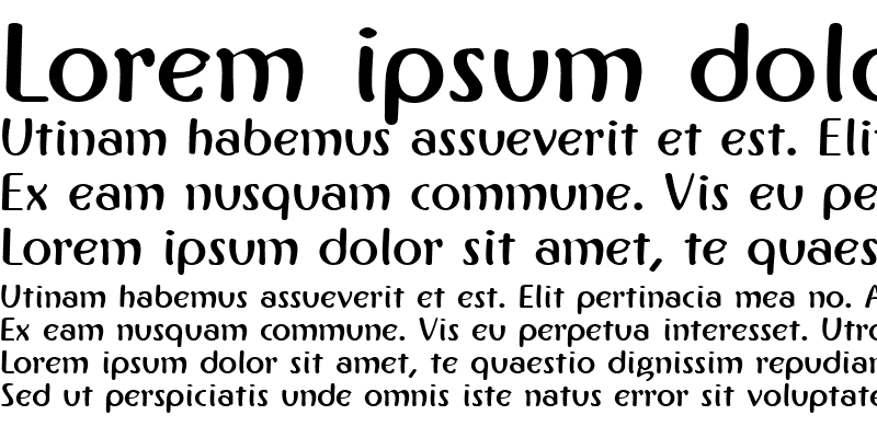Sample of IngrianaCasual Bold