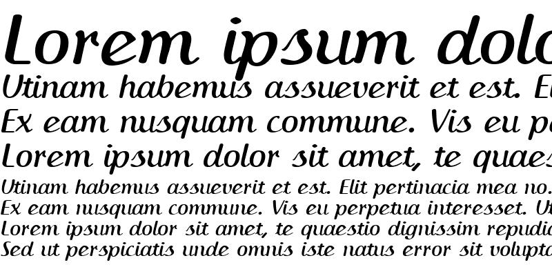 Sample of IngrianaCasual BoldItalic