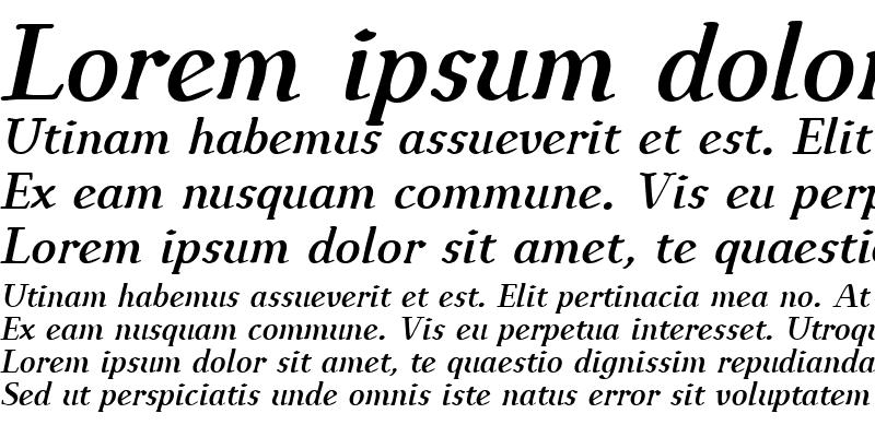 Sample of IngrianEuroikaH BoldItalic