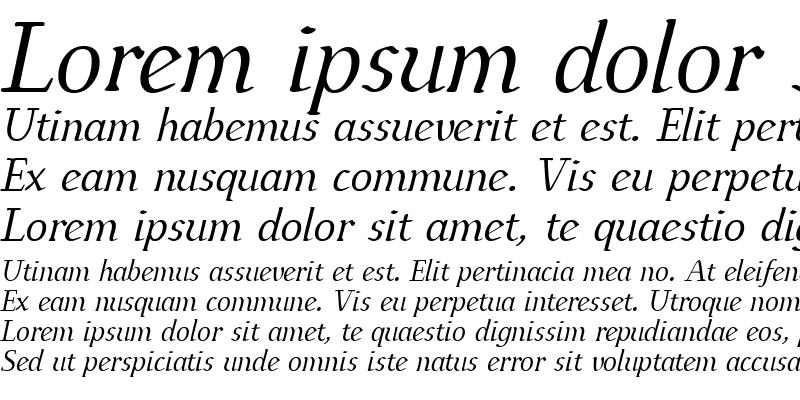 Sample of IngrianEuroikaH Italic