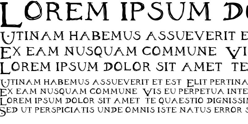 Sample of Inheritance Font