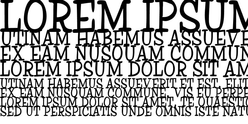 Sample of Ink Regular