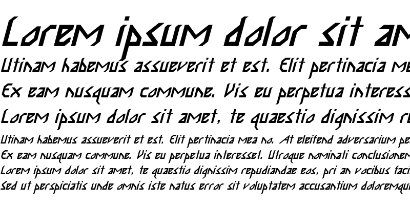 Sample of InkaBod Italic