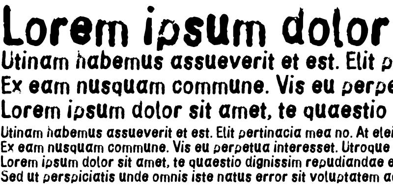 Sample of Inkbleed
