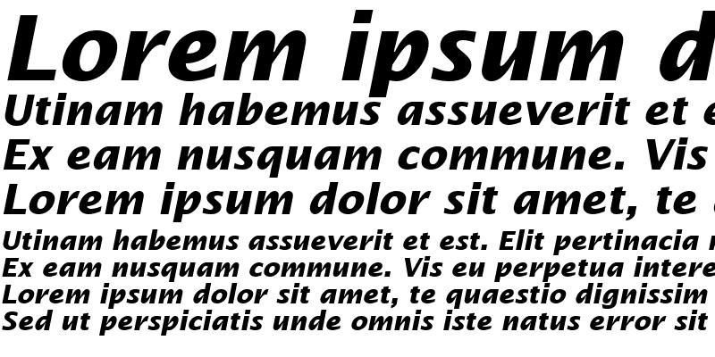 Sample of Insight Sans SSi Bold Italic