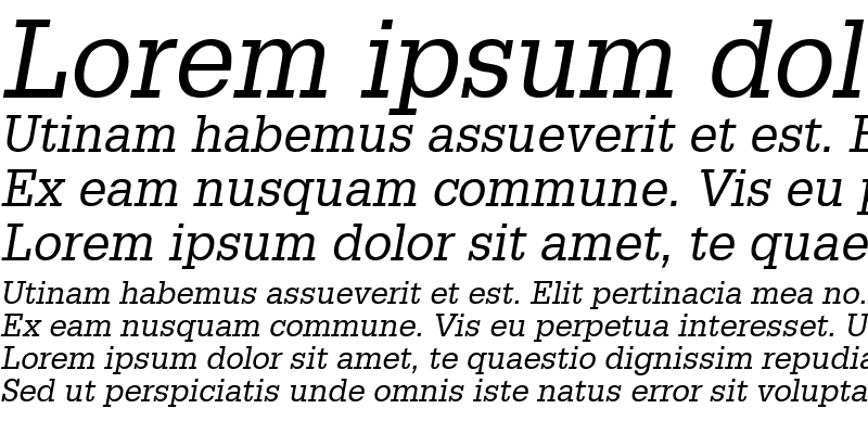 Sample of Installation SSi Italic