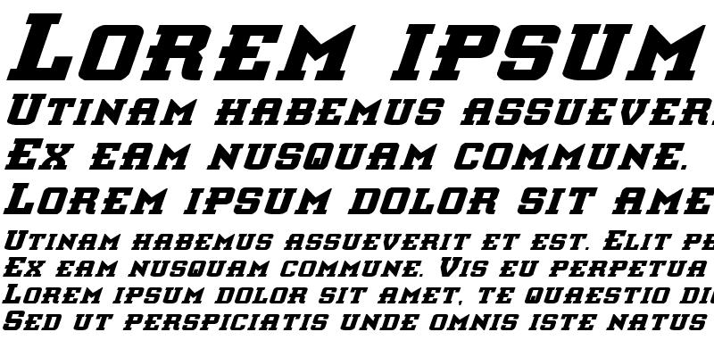 Sample of Interceptor Bold Italic Bold Italic