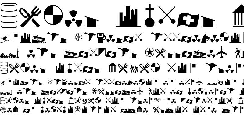 Sample of International Icons A Regular