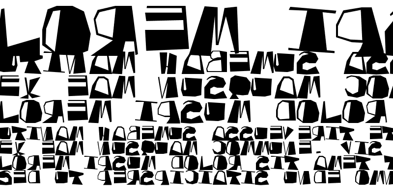 Sample of Inversed Script