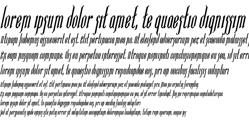 Sample of Ipswich-Condensed Bold Italic