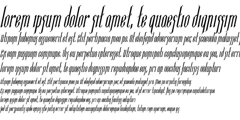 Sample of Ipswich-Condensed Italic