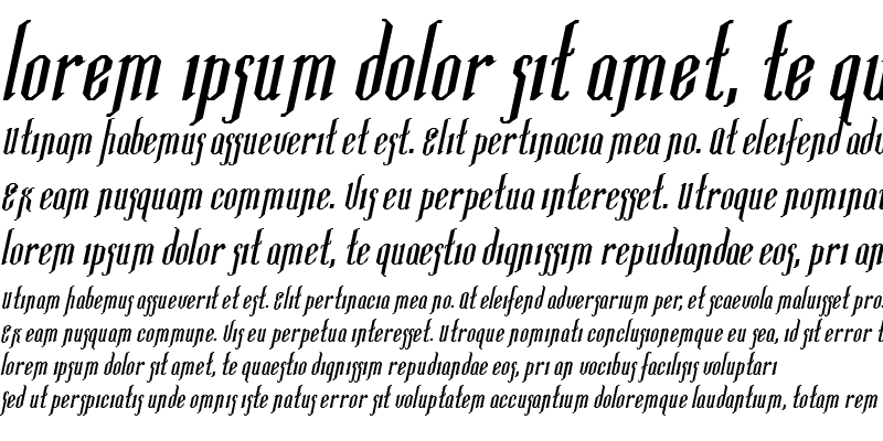 Sample of Ipswich-Extended Bold Italic