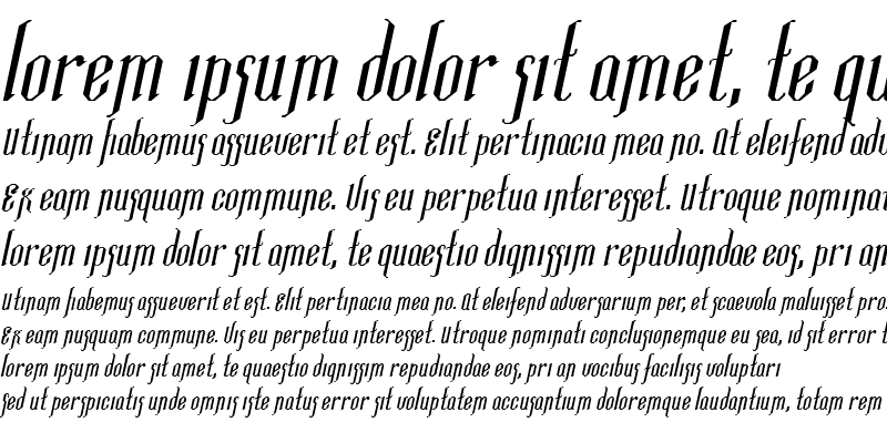 Sample of Ipswich-Extended Italic