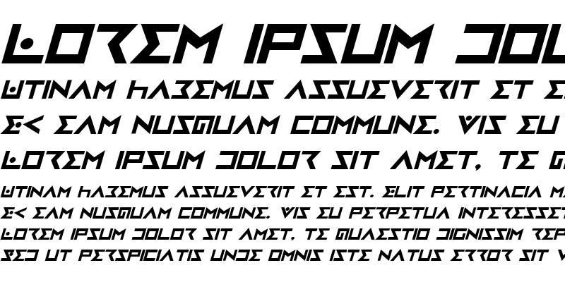 Sample of Iron Cobra Bold Italic