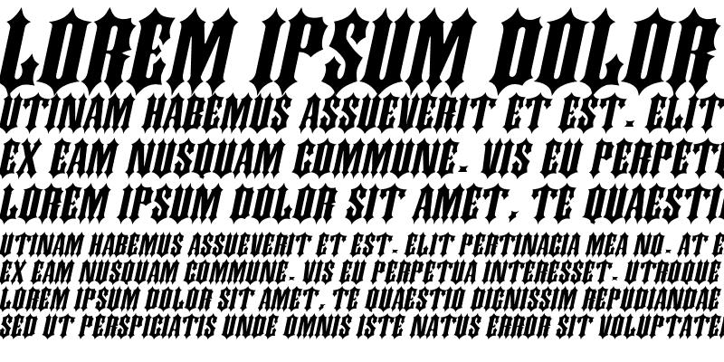Sample of Ironwork Extended Italic