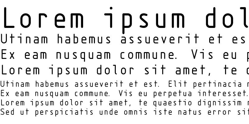 Sample of Isonorm Monospaced