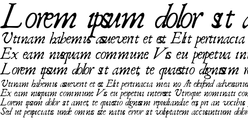 Sample of Italic ClassicScript Regular Regular