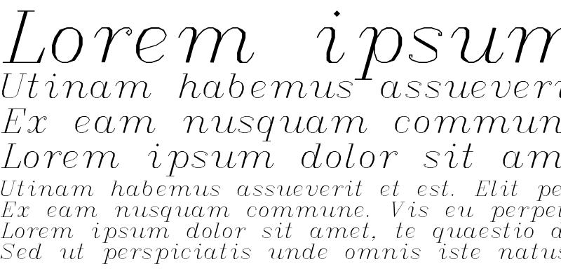 Sample of Italic