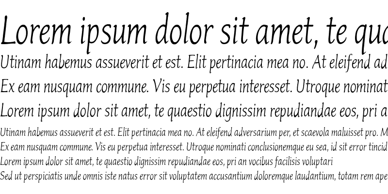 Sample of Italican Oblique Condensed