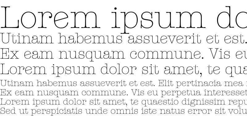 Sample of ITC American Typewriter Light A Regular