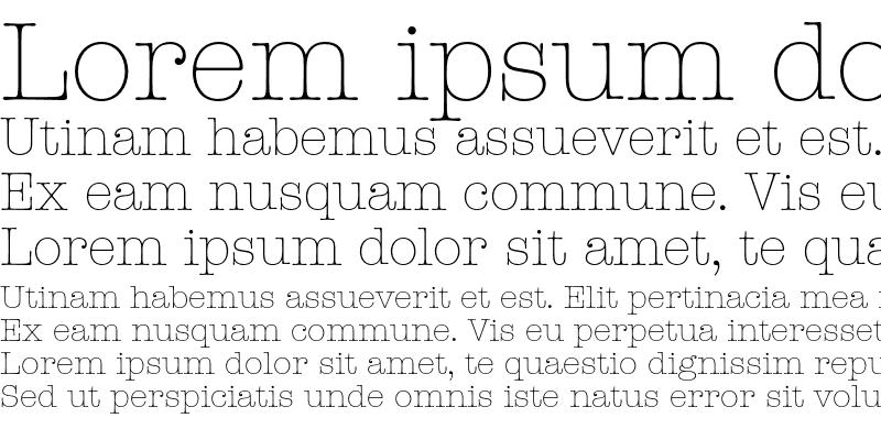 Sample of ITC American Typewriter Light