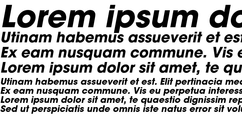Sample of ITC Avant Garde Gothic Bold Oblique