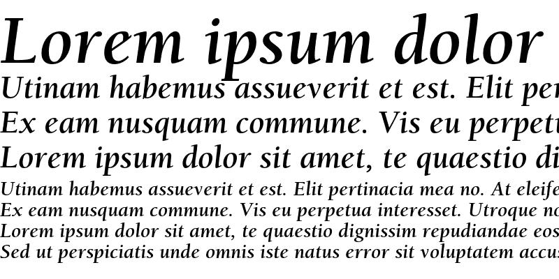 Sample of ITC Berkeley Oldstyle Std Bold Italic