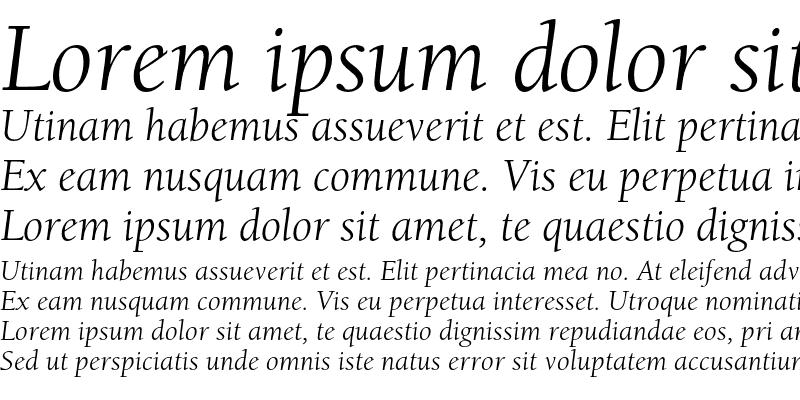 Sample of ITC Berkeley Oldstyle Std Book Italic