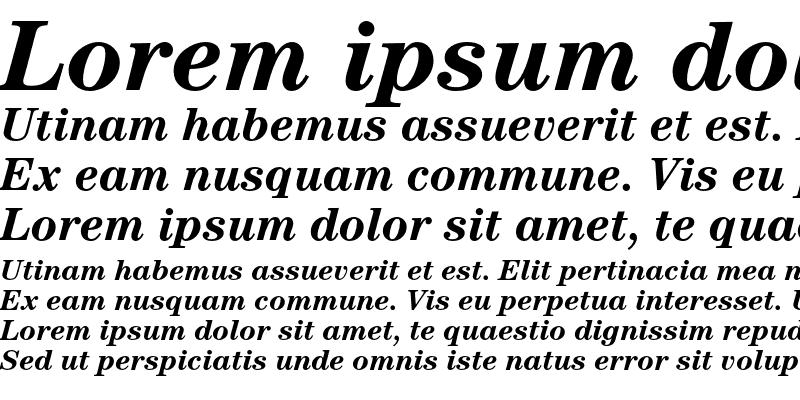 Sample of ITC Century Std Bold Italic