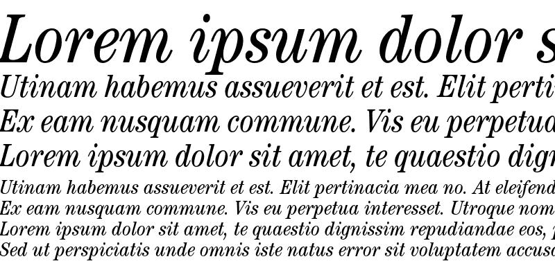 Sample of ITC Century Std Book Condensed Italic