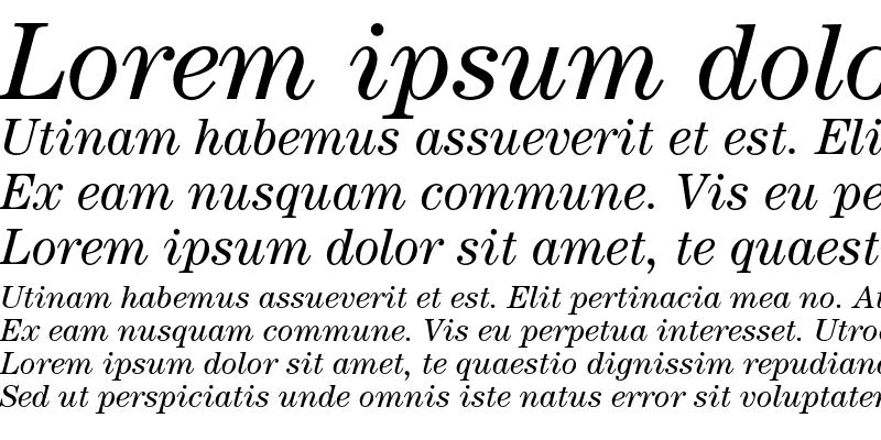 Sample of ITC Century Std Book Italic