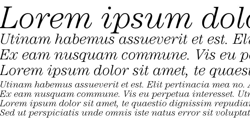 Sample of ITC Century Std Light Italic
