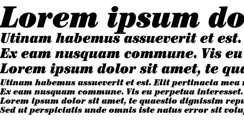 Sample of ITC Century Std Ultra Condensed Italic
