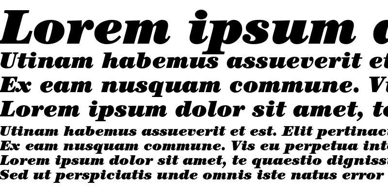 Sample of ITC Century Std Ultra Italic