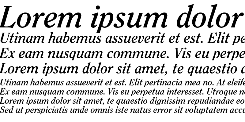 Sample of ITC Clearface Bold Italic